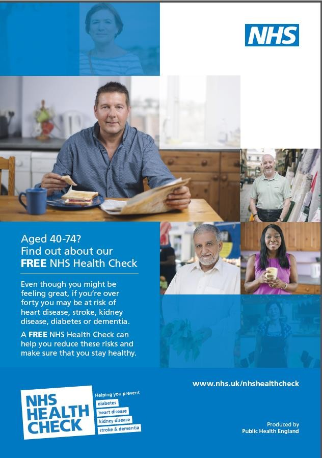 NHS health check poster